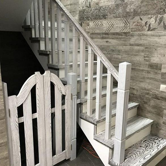 свою очередь, браширование лестницы из дуба фото оформить